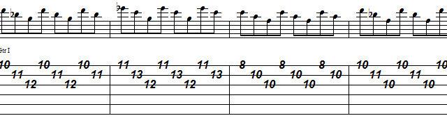 バーン ギターソロ終盤 スコア1